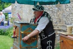 Pearly King Organ Grinder on Barrel organ