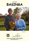 Basinga Front Cover April 2020 - Grace Bennett being presented with a bouquet of flowers