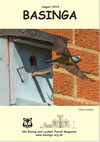 Basinga Front Cover August 2019 - Blue Tits in our nest box