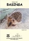 Basinga Front Cover October 2019 - wandering hedgehog
