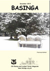 Basinga Front Cover December 2019 -bench in St. Mary's Churchyard