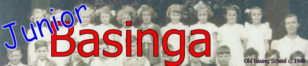 Junior Basinga - Old Basing school class photo from 1940