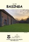 Basinga Front Cover July 2021 - Sunset over Tudor Great Barn