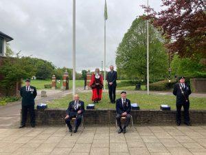 Royal British Legion representatives with Lady Mayor