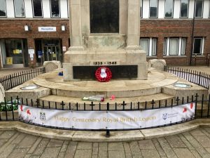 Wreath places on War Memorial at Civic Offices