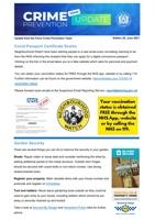Crime Prevention Update - June 2021