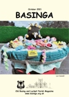 Basinga Front Cover October 2021 - knitted scene atop local postbox