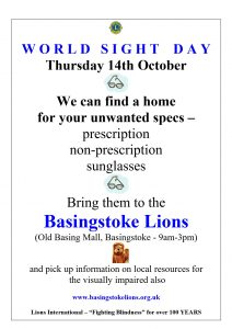 Poster for Lions World sight day event 2021