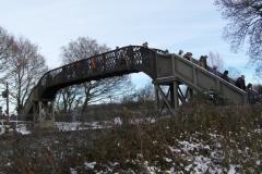 Footbridge over the mainline railway