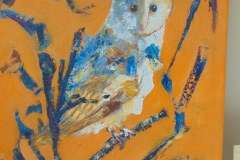 painting of an owl