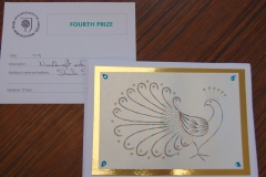 stitching on card