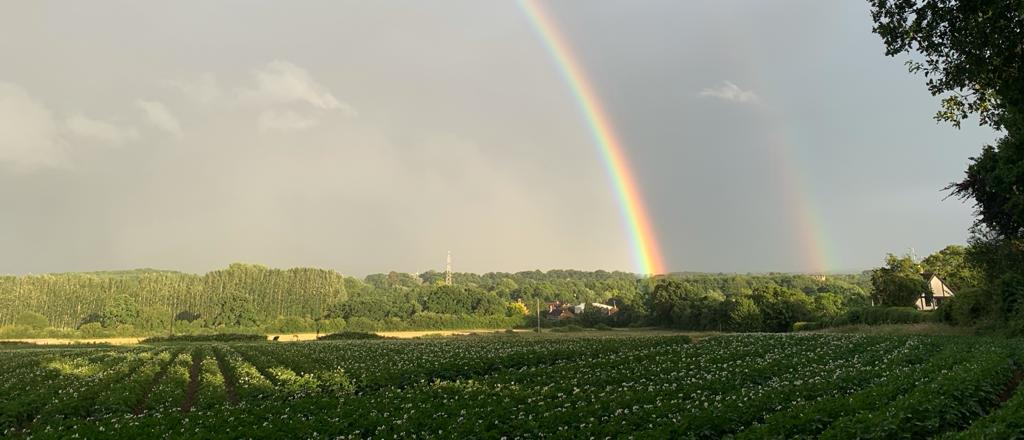 Loddon valley with rainbow - Kate Tuck